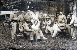 "An ambrotype of the 1st Nebraska Civil War Reenactors dressed in ""Gray."" (DC Rambow)"