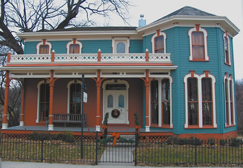 The historic 1860 Carson House museum in Brownville is open for tours through the holiday season. (Nora Tallmon)