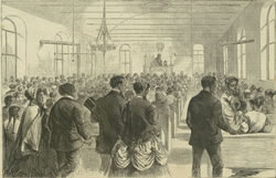 "While the height of labor-movement participation was in the 1940s and '50s, labor unions have a long history in the United States. Here an illustration from the Feb. 6, 1869, ""Harper's Weekly"" shows The National Colored Labor Union Convention in session at Washington, D.C. (Public domain)"
