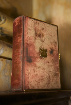 The Bible used by Abraham Lincoln for his oath of office during his first inauguration in 1861, and for subsequent inaugurations, including Barack Obama's on Jan. 20, 2009. This photo of the Bible was taken on Nov. 18, 2008. (Michael McNichol, Library of Congress)