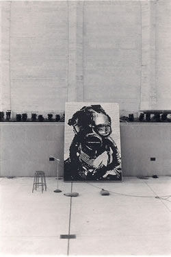 Photograph from the first Earth Day, April 22, 1970, on the University of Nebraska-Lincoln campus at Sheldon Art Gallery. (Warren Palmer)