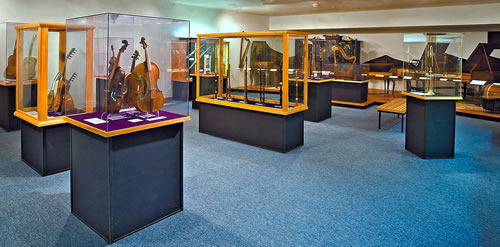 The Pressler Gallery features musical instruments from the Age of Louis XIV, including more than 90 Austrian, Bohemian, Dutch, English, Flemish, French, German, Irish, Italian, Polish, Spanish and Swiss instruments from the 16th, 17th, and 18th centuries. (Bill Willroth Sr.)