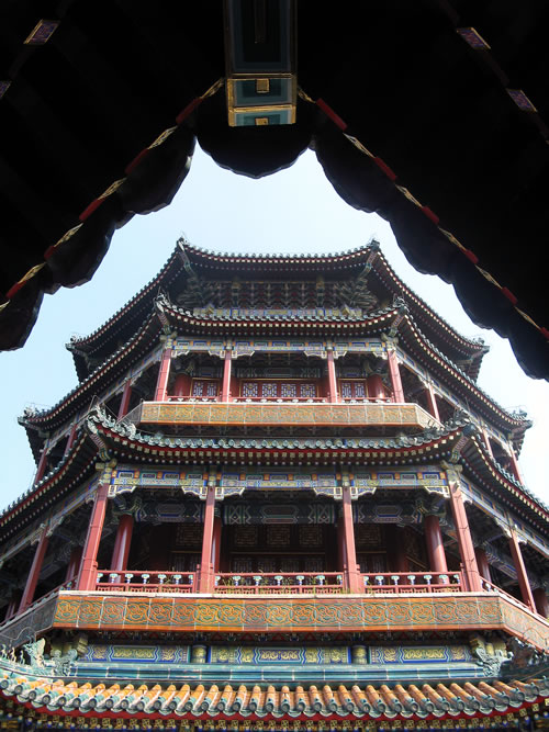 The beautiful Temple of the Sea of Wisdom crowns the Hill of Longevity at the Summer Palace in Beijing. (Jane Hanson)