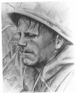 """Untitled"" by Sp4 Larry R. Collins, Combat Illustrator, First Cavalry Division (Airmobile), RVN, 1968."