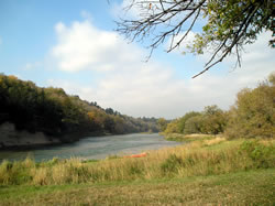 The Niobrara from Sharps Western Campground, Oct. 5, 2007. (Melvin Thorton)