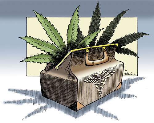 Medical marijuana and Nebraska - Illustration by Paul Fell