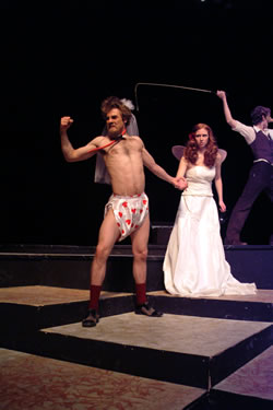 "A brief moment of comedy in ""The Taming of the Shrew."" (Vantage Imaging)"