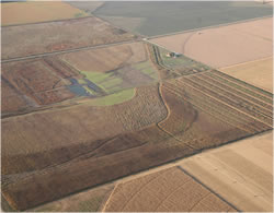 An arial view of Don Cox's restored wetland. (Rainwater Basin Joint Venture)