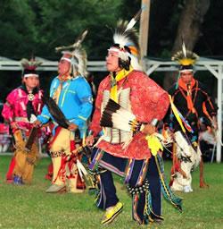 Tribal dancers. (Otoe-Missouria Tribe)