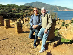 Gwen and Gene Bedient at the Roman ruins at Tipaza near Algiers. (Gene R. Bedient)