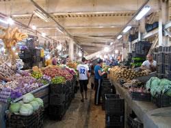 The large downtown produce market, Premier Mai. (Gene R. Bedient)