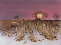 "A Schilling painting from chapter ""The Land"" (University of Nebraska Press)"