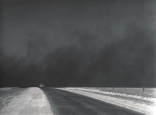 Heavy black clouds of dust rising over the Texas Panhandle, Texas, March 1936, LC-DIG-fsa-8b27276 (digital file from original negative). (Prints and Photographs Division, Library of Congress)