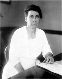 Grace Abbot when she was director of the Children's Bureau, Department of Labor, Aug. 24, 1929, LC-USZ62-111723 (B&W film copy negative). (Prints and Photographs Division, Library of Congress)