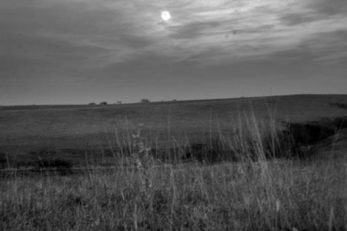 Moon over the prairie, March 21, 2008. (Paul A. Johnsgard)