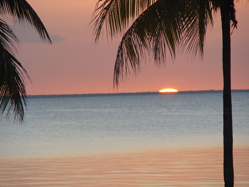 Watching the sun set from the Hotel El Colony, Island of Youth, Cuba. (Mark Peyton)