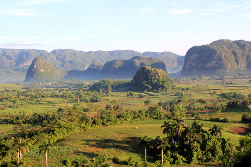 The Viñales Valley as seen from the motel room. (Mark Peyton)