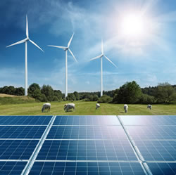 Picture of solar and wind power