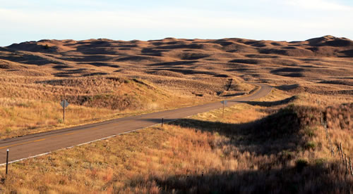 Nebraska Sandhills in Hooker County, seen from Hwy. 97 south of the Dismal River, Oct. 12, 2010. (Ammodramus)