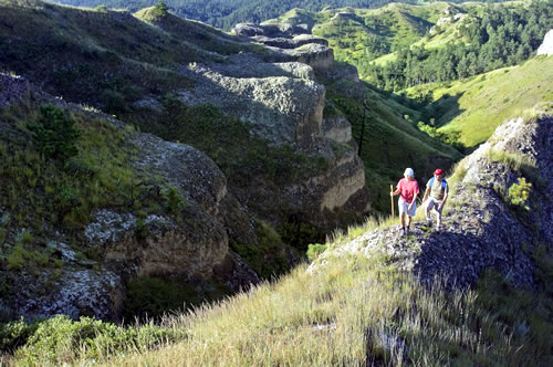 Hikers will enjoy a picturesque setting and an invigorating climb at Chadron State Park. (Nebraska Tourism)