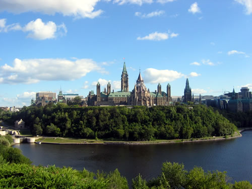 Parliament Hill in Ottawa, Canada. (public domain)