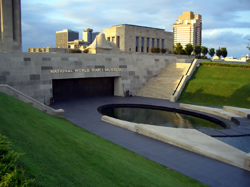 National World War I Memorial Museum Entrance, Kansas City, Missouri. (Charvex)