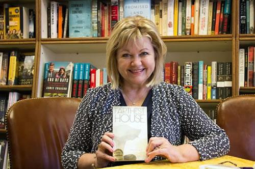 Margaret Lukas at The Bookworm in Omaha, Nebraska. (Lopa Banerjee)