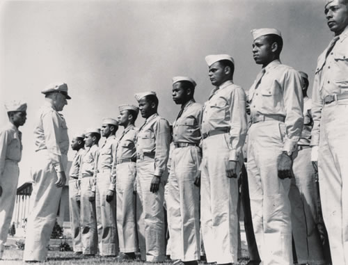 Stateside, the Tuskegee Airmen fought for the dignity and respect any serviceman deserves.  Their battle on the home front would become the fight for Civil Rights. (Office of Air Force History, Maxwell Air Force Base)
