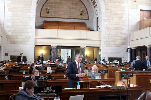 Nebraska state senators during a recent session. (Unicameral Information Office)