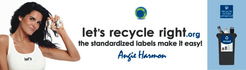"""Let's Recycle Right"" banner. (Recycle Across America)"