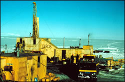 Cenozoic Investigations in the Western Ross Sea (CIROS) with two drill holes in the 1980s.